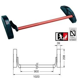 Organizador Cables Con Clip Gris 15 mm. 2,5 M.