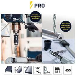Cuerda Poliester Trenzada Blanco / Azul  8 mm. Bobina 200 m.