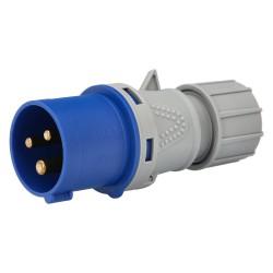 Cuerda Poliester Trenzada Blanco / Azul  5 mm. Bobina 200 m.