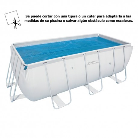 Cobertor Solar Para Piscina Rectangular 412x201cm. - Brico Acoil
