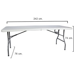 Mesa Plegable Rectangular 242x76x74cm