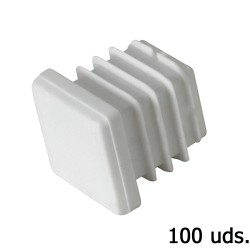 Contera Plastico Cuadrada 30x30 mm. Bolsa 100 Unidades
