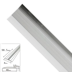 Tapajuntas Adhesivo Para Moquetas Aluminio Plata   98,5 cm.