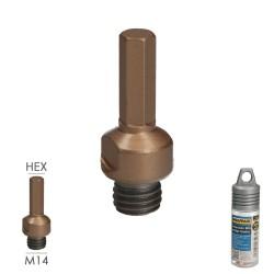 Tapajuntas Adhesivo Para Ceramica Aluminio Oro   98,5 cm.