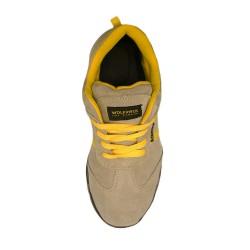 Pantalones Cortos DeTrabajo, Multibolsillos, Resistentes, Gris/Amarillo Talla 38/40 S