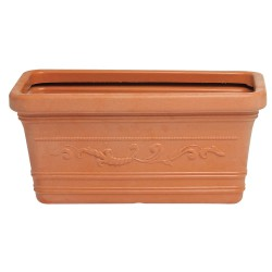 Macetero Terracota Resina Rectangular 60x33 cm.