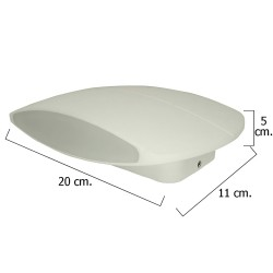 Plafon Led IP54 9 Watt. / 520 Lumens. Aluminio Plano Blanco 20 cm.