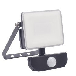 Foco Led Plano 10 Watt. Luz Blanca 4000º K  IP 65 800 Lumenes Con Sensor de Presencia