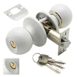 Escalera Domestica Aluminio 3 Peldaños, Escalerilla Blanca