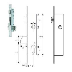 Cartel / Señal Fluorescente Salida A Izquierda 21x30 cm.