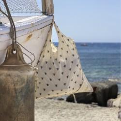 Bata de Trabajo Algodon/Poliester Azul   S