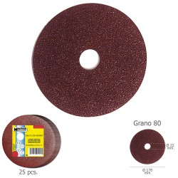 Disco Lija Hierro 178x22 mm. Grano  80 (Paquete de 25 unidades)