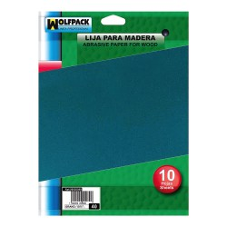Lija Madera Grano 120 (Pack 10 Pliegos)