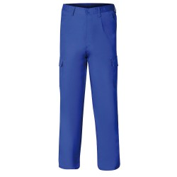 Pantalon De Trabajo Largo, Color Azul, Multibolsillos, Resistente, Talla 52