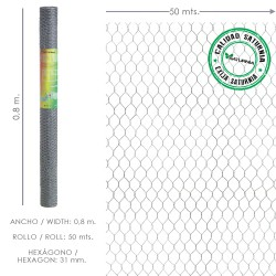 Enrejado Triple Torsion 31/  80 cm. Rollo 50 Metros Uso Domestico
