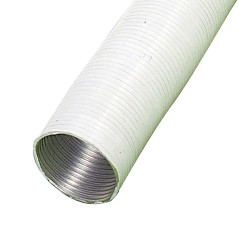 Tubo Aluminio Compacto Blanco Ø 200 mm. / 5 metros