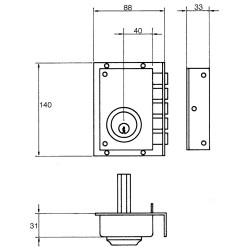 Cilindro Tesa 5030/30x10  Medio cilindro