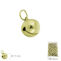 Cascabel Dorado  17 mm.  (Bolsa 100 Unidades)